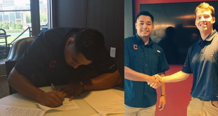 Photo for Ulysses Cantu Signs Professional Contract With Cleveland Indians!