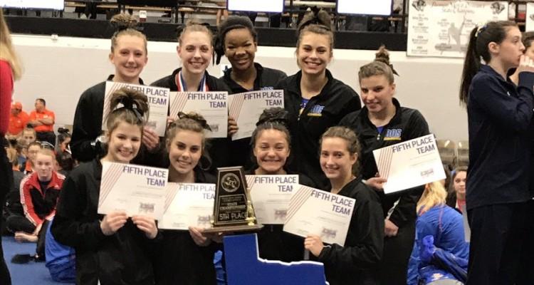 Photo for Girls And Boys Boswell Gymnastics Teams Place Top Ten At State!