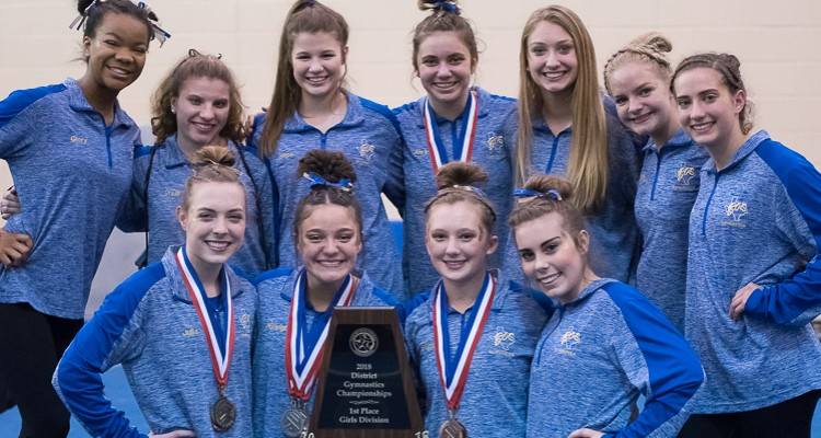 Photo for Boswell Girls' Gymnastics Wins Back-To-Back District Championship!